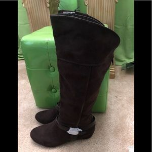 Brown Express Knee Boots